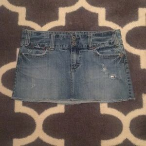 American Eagle Distressed Jean Skirt 8